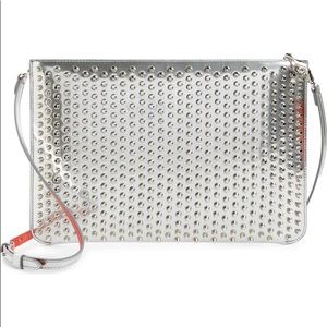 Christian Louboutin spiked leather clutch